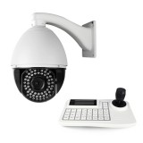 High Speed 22x PTZ Camera with Upgraded Menu Function & LCD 3-Axis Keyboard Controller