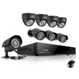 Zmodo 8CH CCTV Security Camera System & 8 600TVL Outdoor IR Cameras