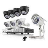 Zmodo 8CH Home Video Surveillance System & 8 600TVL Day Night Cameras