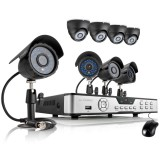Zmodo 8CH Home Video Surveillance System w/ 8 600TVL Security Cameras