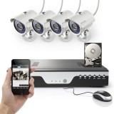 Zmodo 8CH 960H Home Camera System 1TB HDD & 4 700TVL Security Cameras