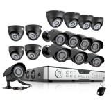 Zmodo 16CH Home Surveillance System & 16 600TVL Weatherproof Cameras