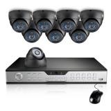 Zmodo 16CH DVR Security System & 8 600TVL Sony CCD Vandalproof Cameras