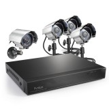 Funlux 4CH  D1 Real-Time DVR 600TVL Security System, P2P, Quick QR-Code Remote Access