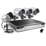 Funlux 8CH 960H Video Surveillance System, P2P, Scan to Connect, 4 600TVL Cameras