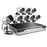 Funlux 8CH 960H DVR Surveillance System, P2P, QR-Code Connection, 8 600TVL Cameras