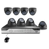Funlux 8CH 960H CCTV Security System, P2P, QR-Code Remote Access, 8 600TVL Cameras