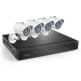 Funlux 4CH 30FPS Real-Time 960H+700TVL Security System, P2P, QR-Code Connection