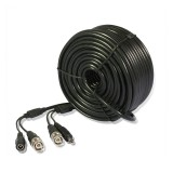 98ft AWG24 Premade Siamese CCTV Video + Power Cable