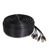 130 ft AWG22 Premade Siamese Video + Power + Audio Cable