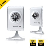 2-Pack ZMODO 720p HD Wireless IP Camera