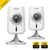 2-Pack ZMODO New 720p HD Wireless WiFi IP Security Cameras