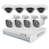 Zmodo 8 Channel 720p NVR Security System & 4 HD IP Cameras with Night Vision