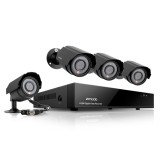 Zmodo 4 Channel D1 DVR Security System & 4 600TVL Outdoor IR Cameras