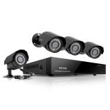 Zmodo 4 Channel D1 DVR Security System & 4 600TVL Outdoor IR Cameras