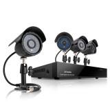 Zmodo 4CH Video Camera System w/ 4 600TVL Outdoor Day Night Cameras