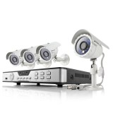Zmodo 4 Channel Home Surveillance System & 4 Outdoor 600TVL IR Cameras
