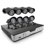 Zmodo 8 Channel Security Camera System & 8 600TVL Night Vision Cameras