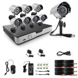 Zmodo 8CH Standalone DVR Security System & 8 600TVL Outdoor IR Cameras