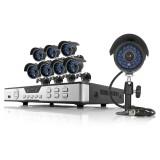 Zmodo 8CH DVR CCTV System & 8 600TVL Weatherproof Night Vision Cameras