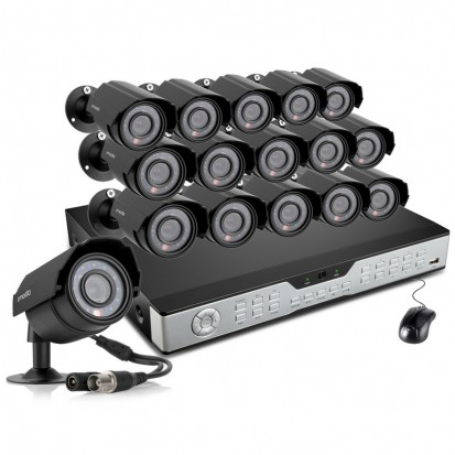 Zmodo 16CH Business Security System & 16 600TVL IR Security Cameras