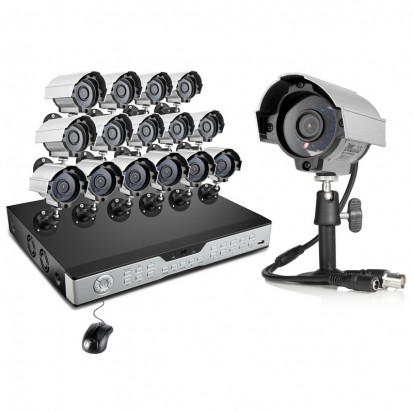Zmodo 16CH Video Surveillance System & 16 600TVL IR Security Cameras