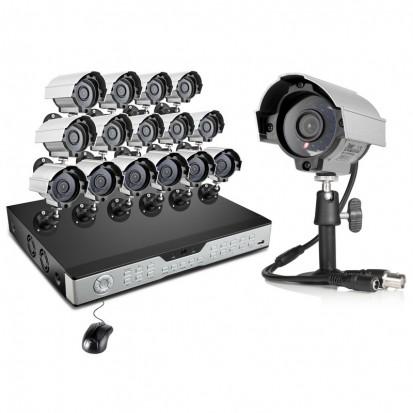 Zmodo 16CH Video Surveillance System & 16 600TVL IR Security Cameras