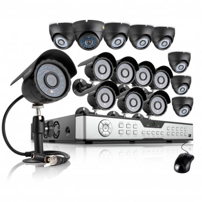 Zmodo 16CH DVR Security System & 16 600TVL Outdoor Day Night Cameras