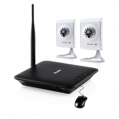 Elite Mini NVR System with 2 Wireless IP Camera & 500GB Hard Drive