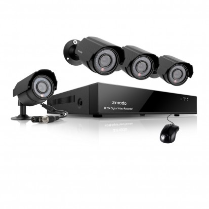 Zmodo 8 Channel Camera Surveillance System & 4 600TVL Outdoor Cameras