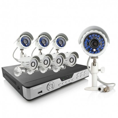 Zmodo 8 Channel Security Surveillance Camera System & 4 600TVL Cameras