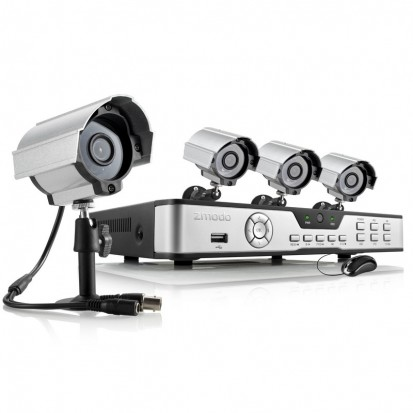 Zmodo 8 Channel DVR Security System w/ 4 600TVL Night Vision Camera