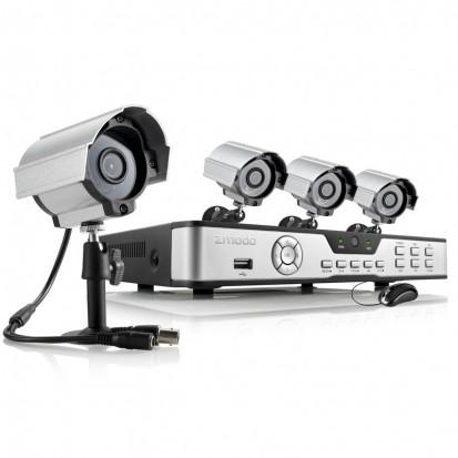Zmodo 8 Channel DVR Security System w/ 4 600TVL Night Vision Camera