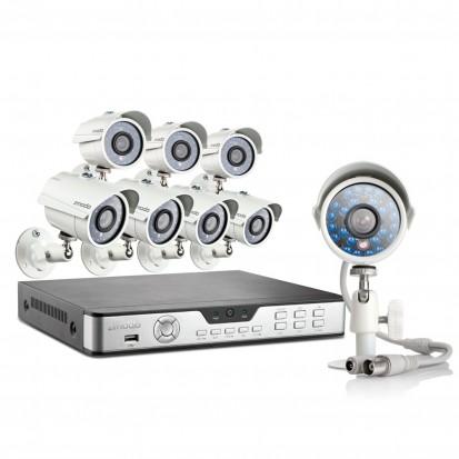 Zmodo 8CH H.264 CCTV DVR System & 8 700TVL Security Cameras & 1TB HDD
