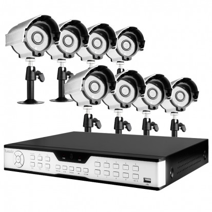 16CH H.264 DVR 8 Sony CCD 420TVL 24 IR LEDs Outdoor Cameras without Hard Drive
