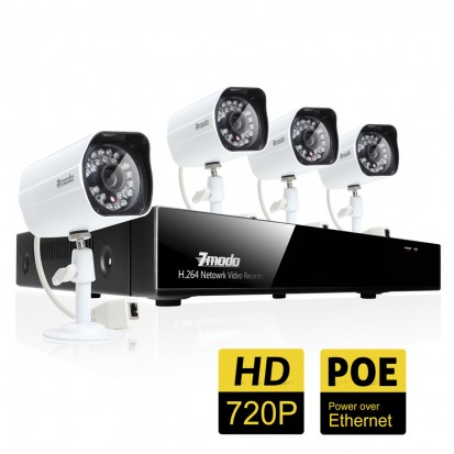 4 Channel 720P HD PoE NVR Security System